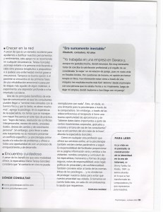 Psychologies, octubre 2010. Reportaje sobre psicoterapias online ( en línea ).