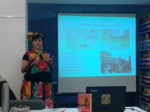 María Teresa González Osorio-charla en la Universidad de Hamburgo