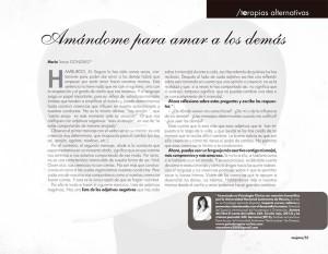 Artículo de María Tersea González en la revista MUJERES