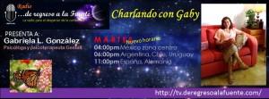 """Programa radiofónico por online: """"Charlando con Gaby"""""""