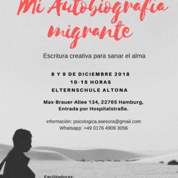 Próximo taller de escritura creativa: Autobiografía migrante