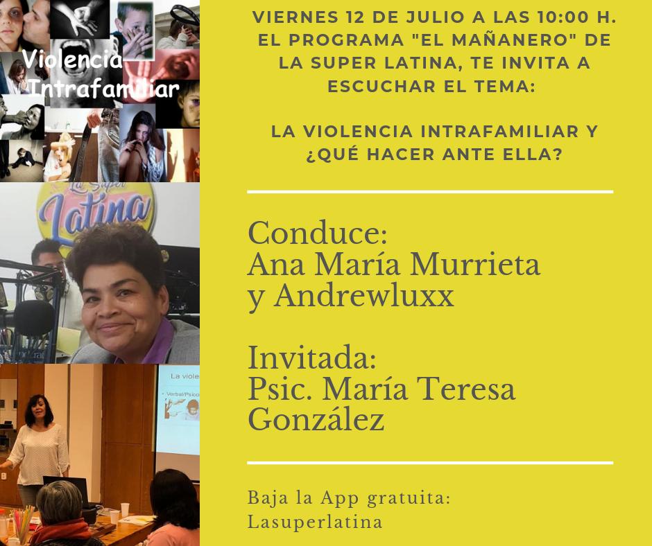 Charla en radio: Violencia intrafamiliar