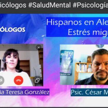 """Programa """"Los psicólogos"""" hablando del estrés migratorio"""