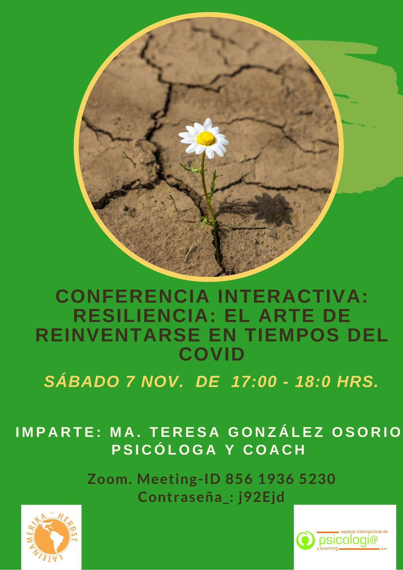 Conferencia: Resiliencia: el arte de reinventarse en tiempos del Covid-19